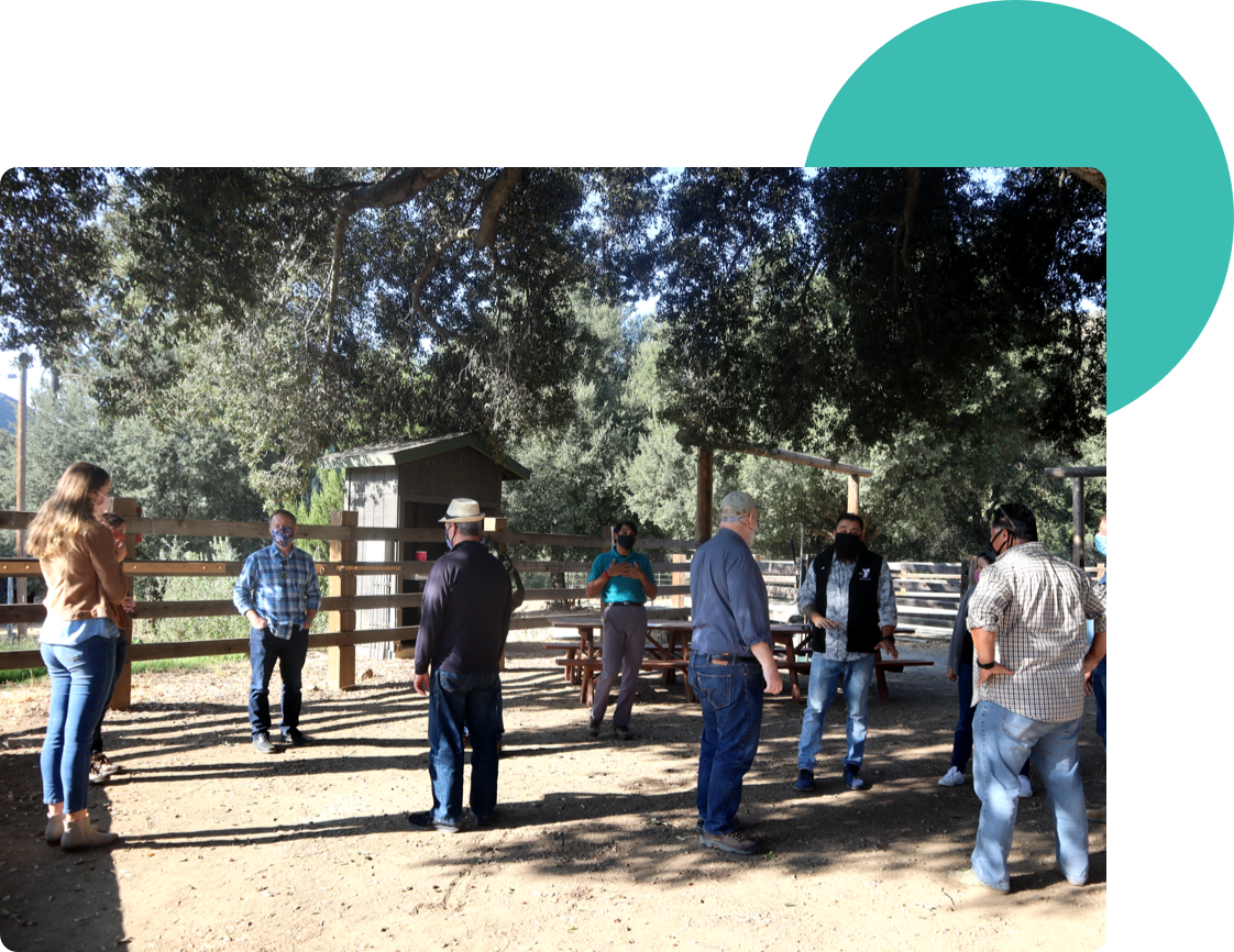 A group at the horse ranch